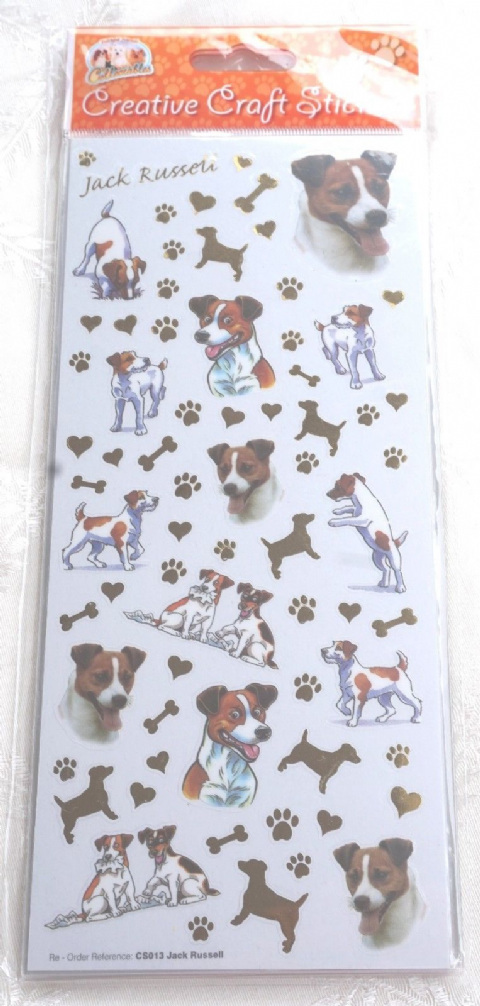 JACK RUSSELL -  CRAFT STICKERS  SCRAPBOOKING CARD CRAFT ETC